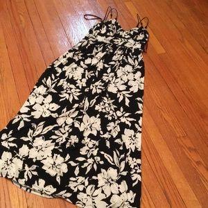 Ralph Lauren maxi blk / wht floral sundress size 4